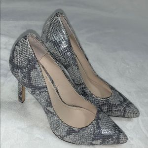 Vince Camuto Silver Metallic Leather Heels Pumps